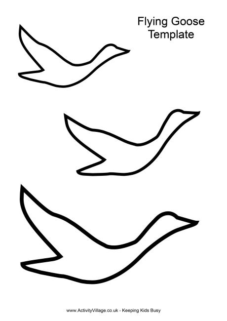 Best Photos of Goose Template Printables - Flying Bird Template ...