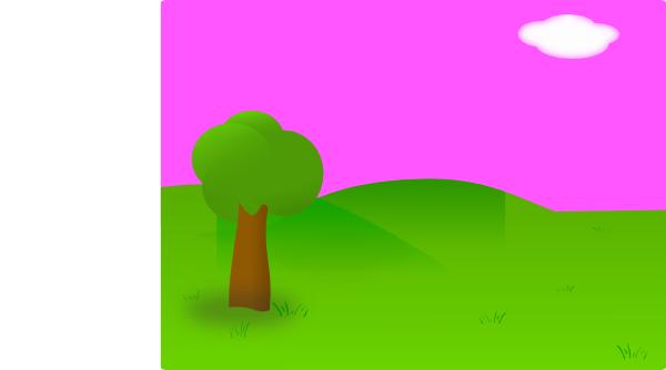 Pink Background Landscape Clip Art - vector clip art ...