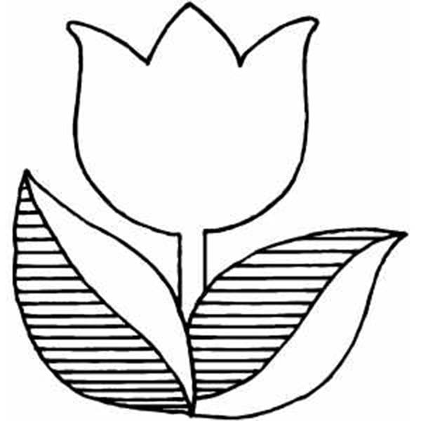 Large Printable Tulips - ClipArt Best