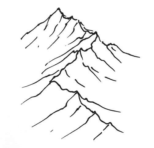 Line Art Mountains : Mountain line drawing clipart best