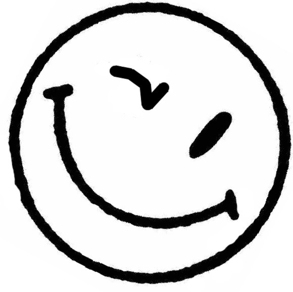 Line Drawing Of Happy Face : Wink happy face clipart best