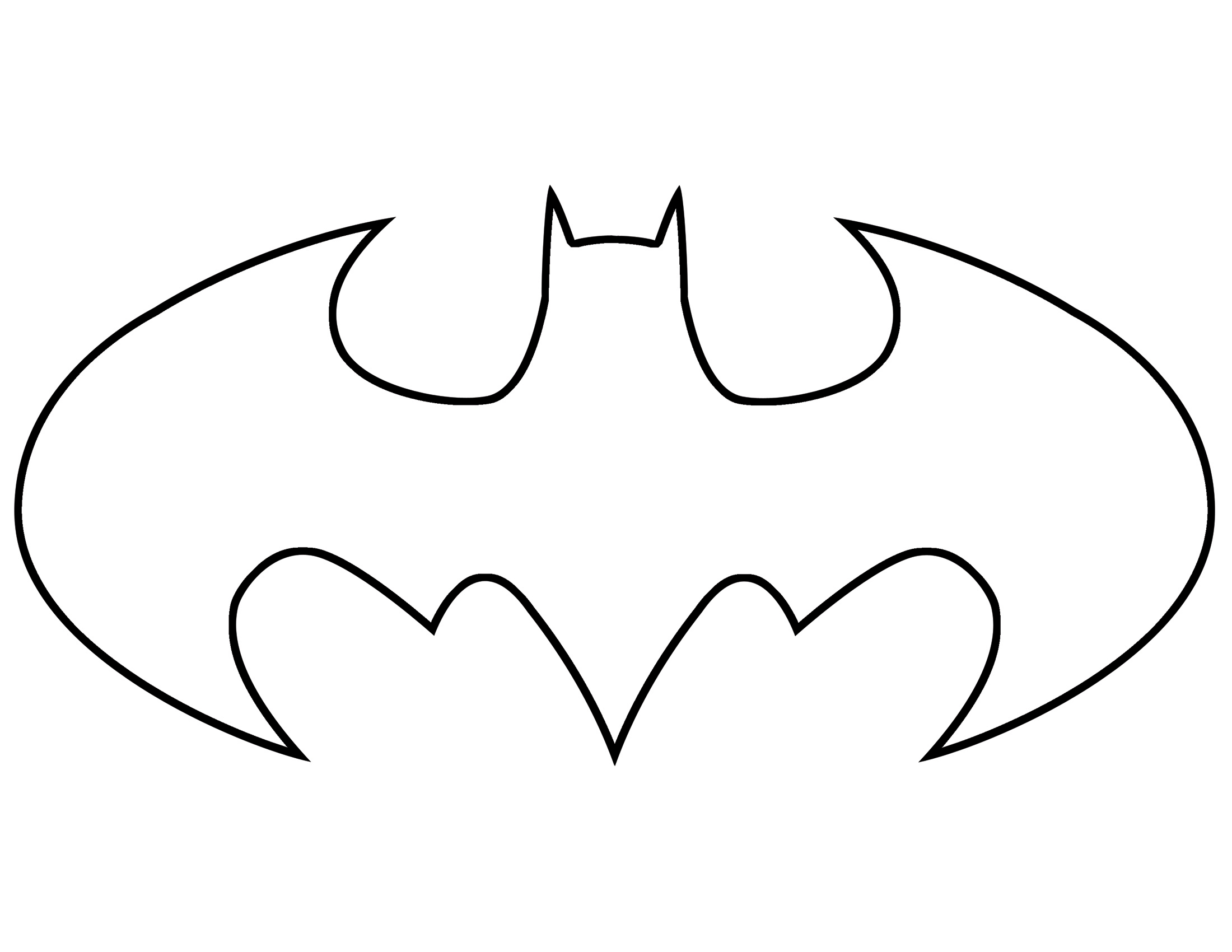 Printable batman logo clipart best Batman symbol