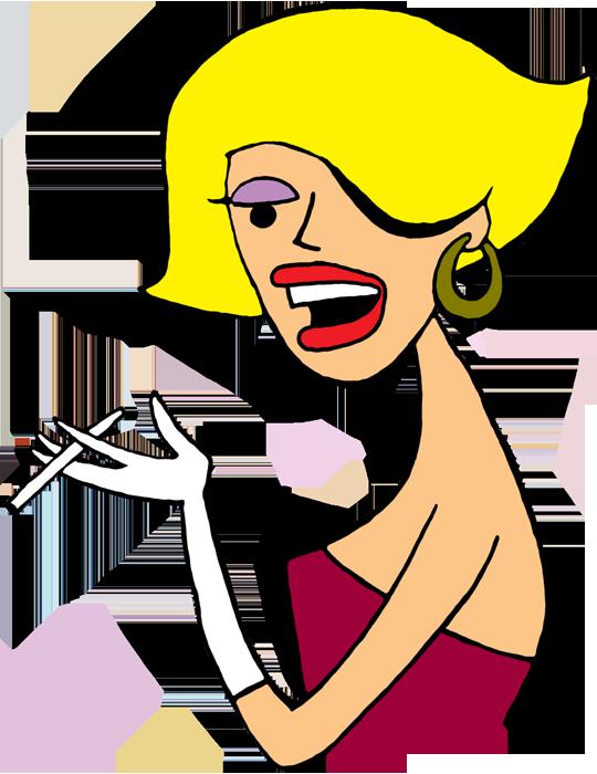 Blond girl clip art more