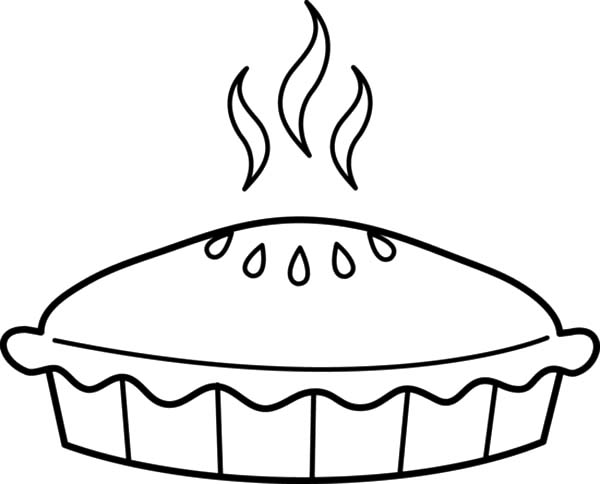Coloring Pages Apple Pie : Coloring picture of pie clipart best