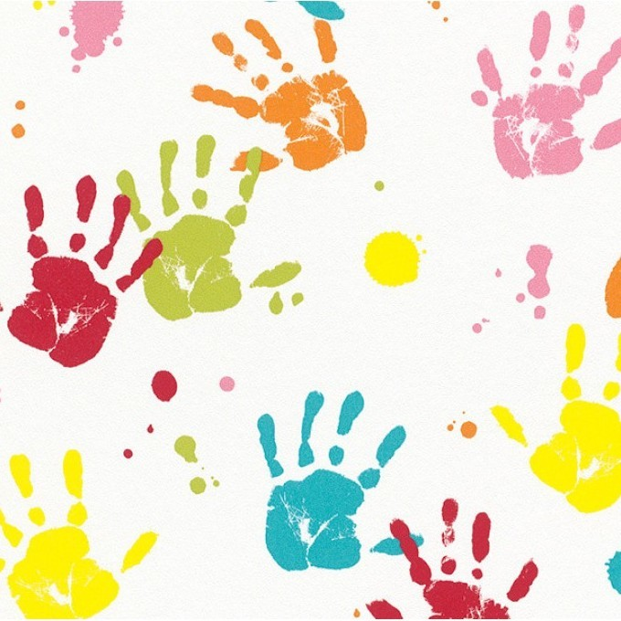 multicoloured handprints wallpaper rasch wallpaper Colorful Handprint Clip Art handprint border clip art free