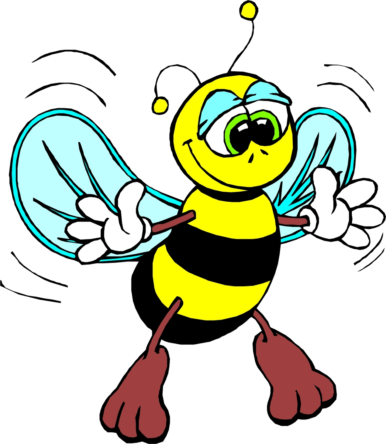 Honey Bee Cartoon - ClipArt Best