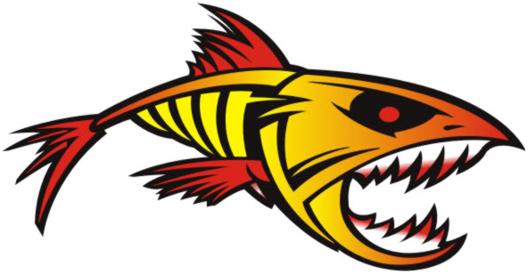 Fire Fish Decal