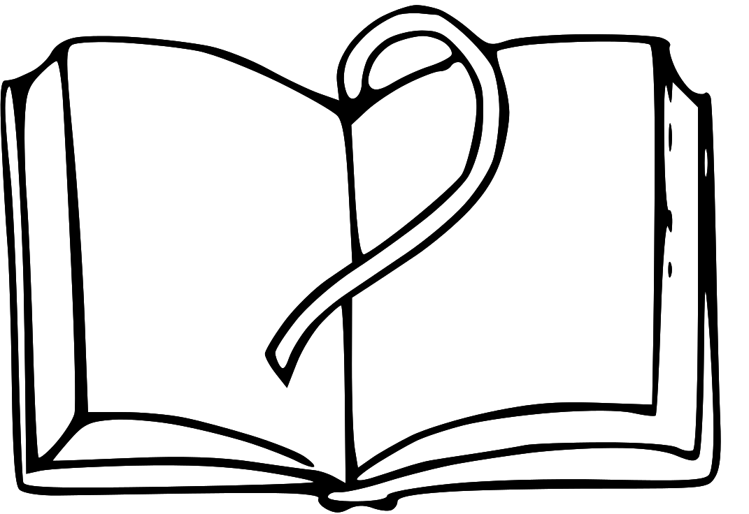 open book coloring page clipart best