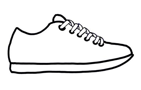 running shoe coloring page running shoe coloring page clipart best