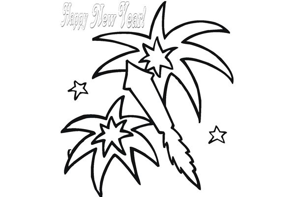 New Year S Line Art : Fireworks line art clipart best