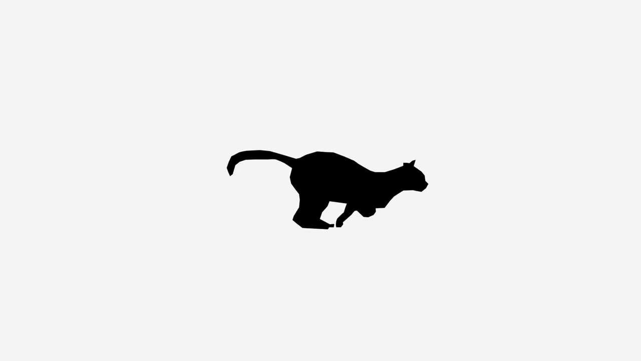 Cat running animation