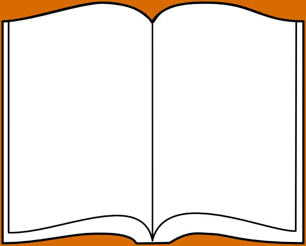 Open Book Template Clip Art - ClipArt Best