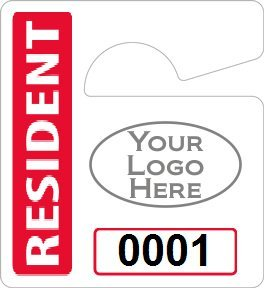 hanging parking pass template - hang tag template clipart best