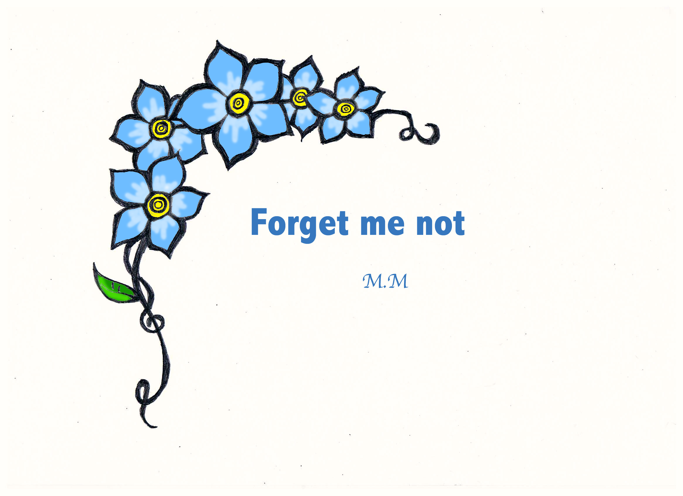 clip art forget me not flower - photo #38