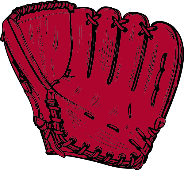 baseball glove - vector Clip Art