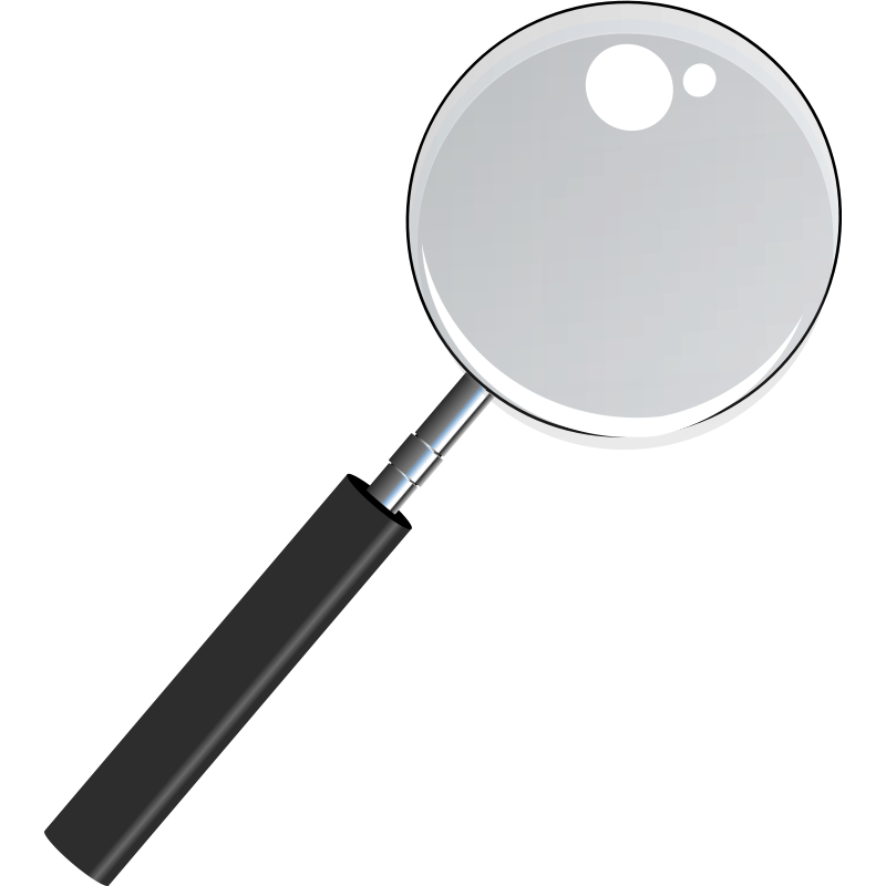 Clipart - Magnifying Glass with Transparent Glass