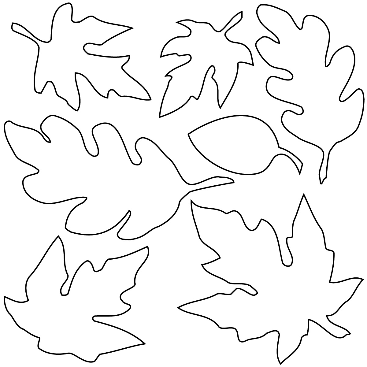 outline of leaves clipart best