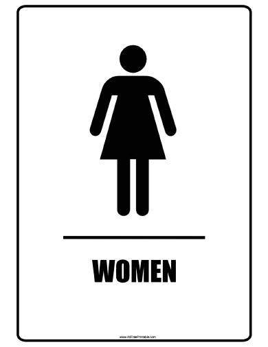 Restroom signs printable clipart best for Women only bathroom sign