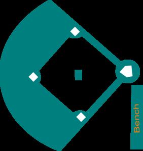 Baseball Field Sketch Clipart Best
