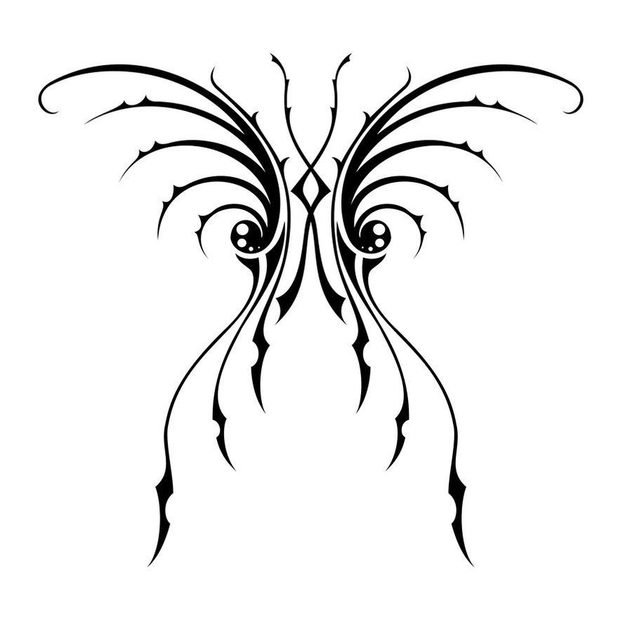 tribal butterfly drawings - 897×890