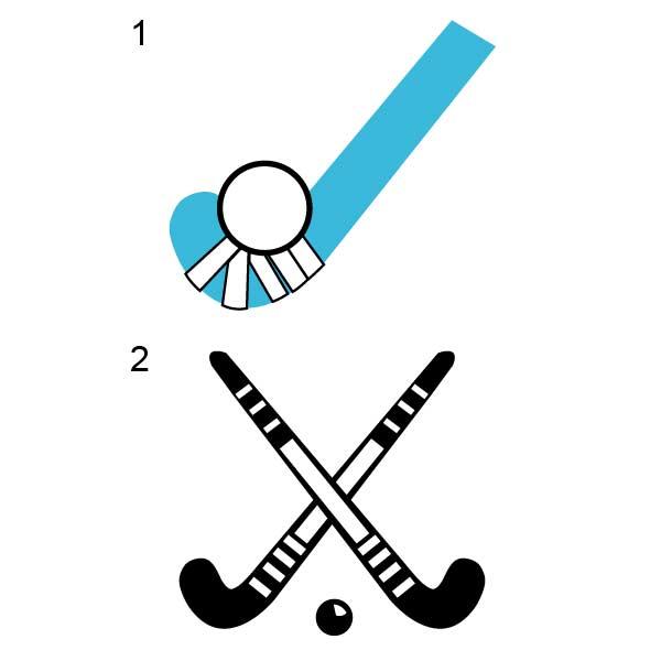 Field Hockey Sticks Vector images