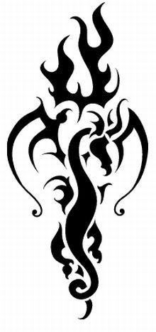 Cross With Flames Tattoo Designs