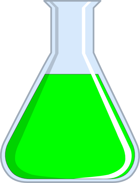 Chemistry Flash - Green clip art - vector clip art online, royalty ...