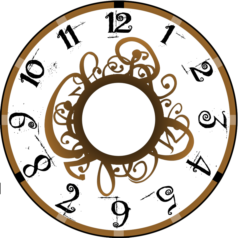 brown curly clock face - ClipArt Best - ClipArt Best