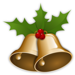 Christmas Bells With Holly clip art - vector clip art online ...