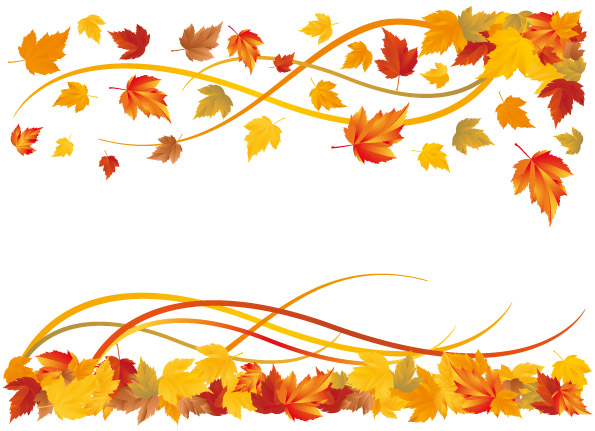 Vector Fall Leaf Border | Tera Wallpaper