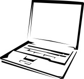 Computer Clip Art Black And White - ClipArt Best