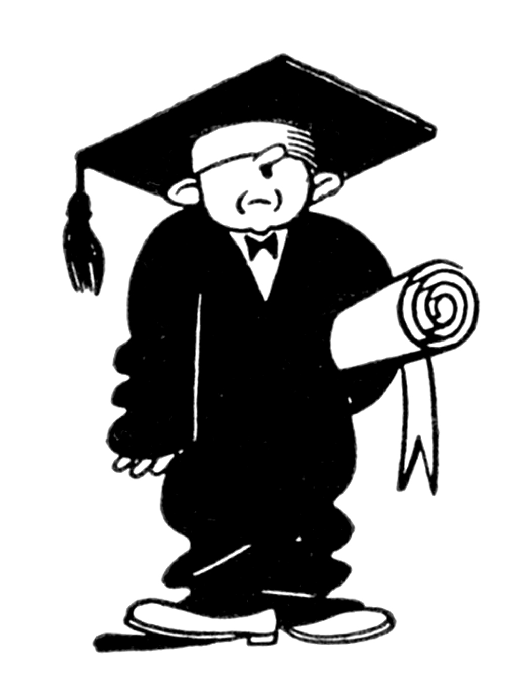 Quirky Retro Graduate Clip Art � Education