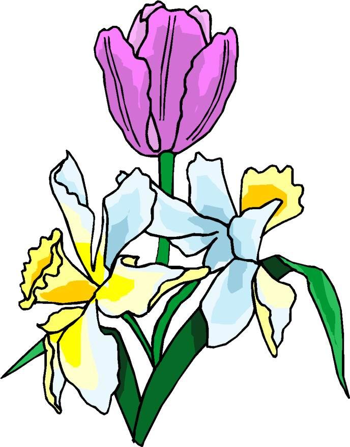 free easter flower clip art - photo #4