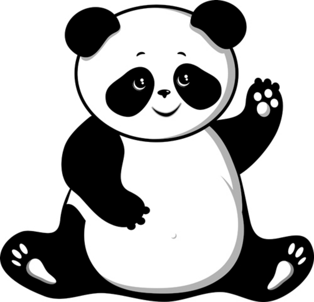 simple panda clipart - photo #17
