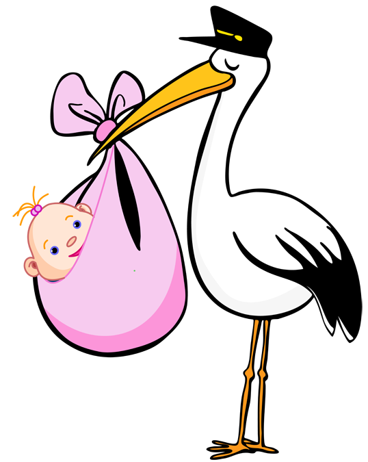 stork and baby clipart free - photo #2