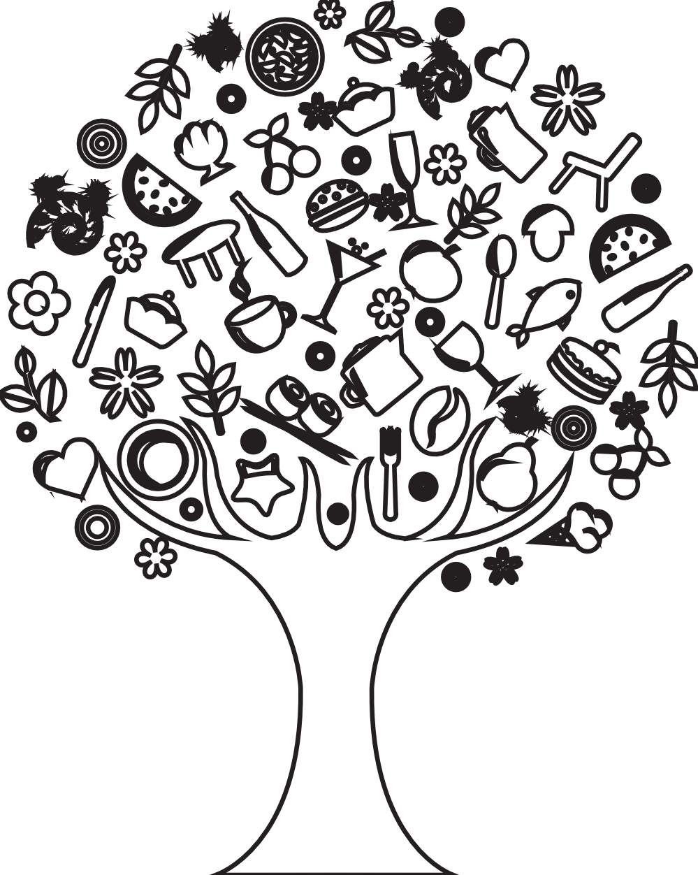 Famous Line Art Paintings : Tree line drawings clipart best