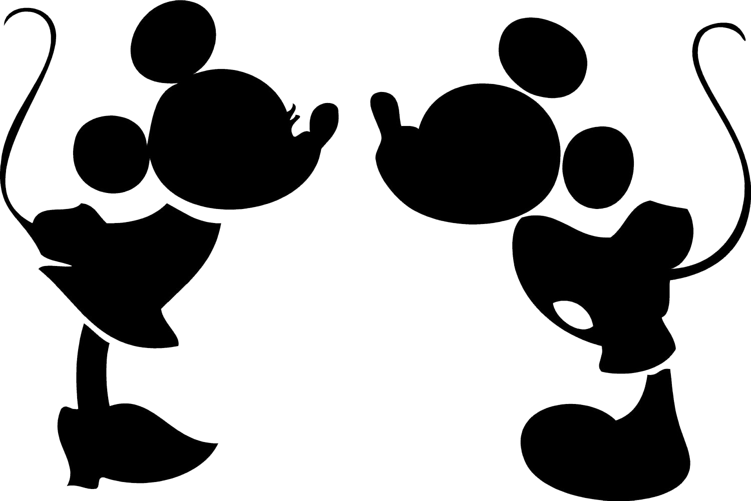 Mickey Silhouette - ClipArt Best