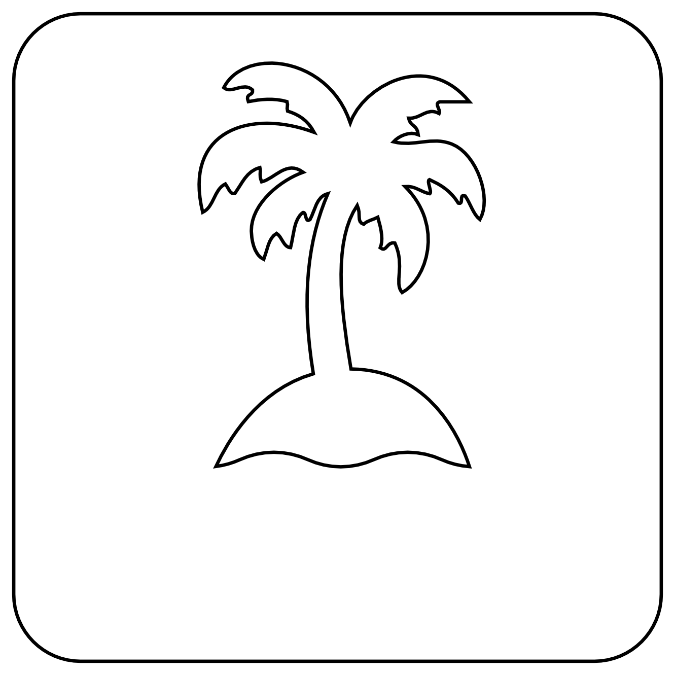 Line Drawing Palm Tree : Isla tree black white line art tattoo tatoo flower svg