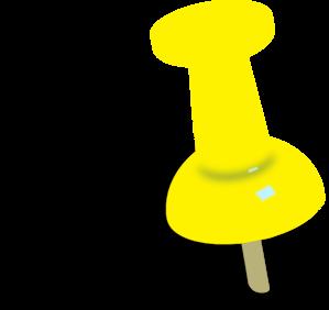 Clip Art Push Pin Clipart push pin clip art clipart best yellowish orange vector art