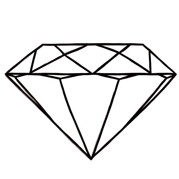 Diamond ring coloring pages clipart best for Diamond coloring page