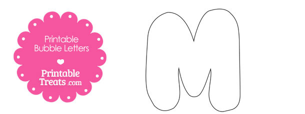 Printable Bubble Letter M Template — Printable Treats.com