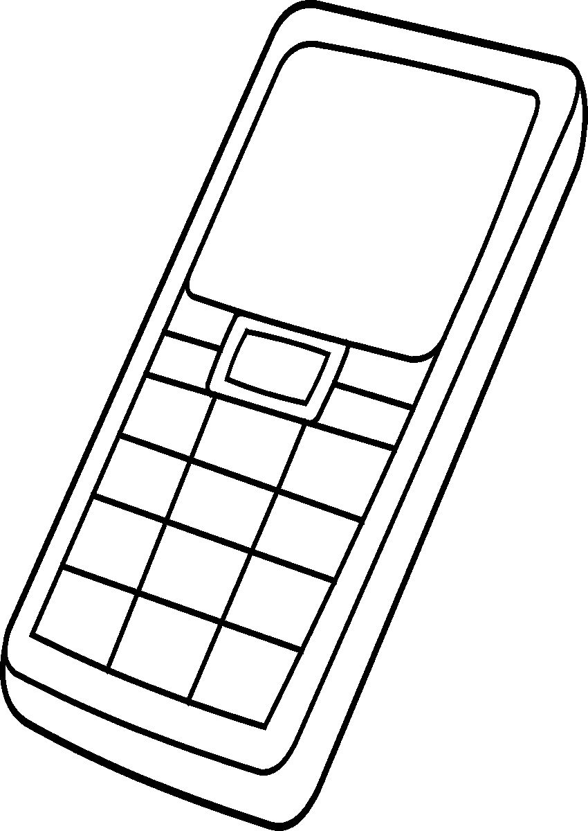 Coloring Pages Iphone : Iphone coloring pages clipart best