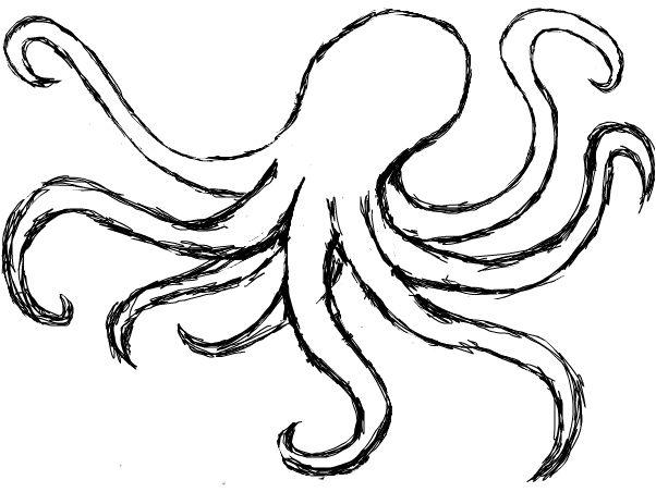 Line Art Vs Painting : Octopus outline clipart best
