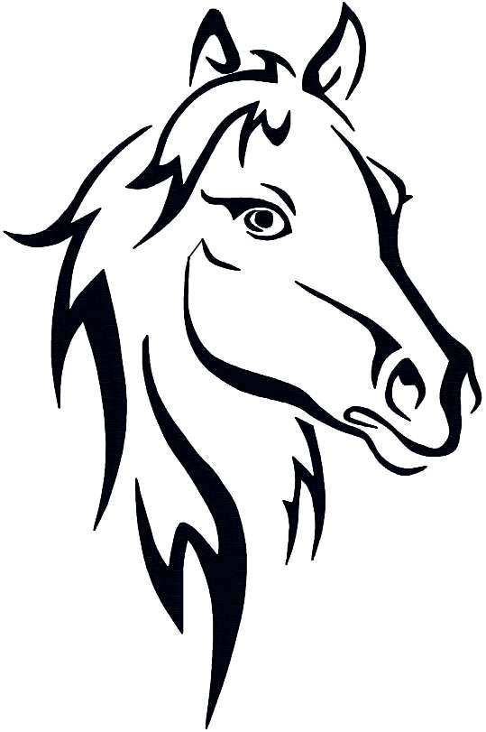 Abstract Horse Coloring Pages : Horse abstract coloring pages