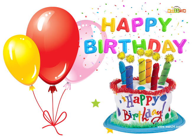Happy Birthday With Balloons And Cake - ClipArt Best
