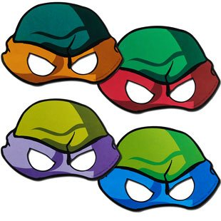 Teenage Mutant Ninja Turtles Free Printed Masks - ClipArt Best