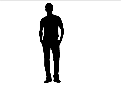 Silhouette Man Standing Stock Photos Royalty Free