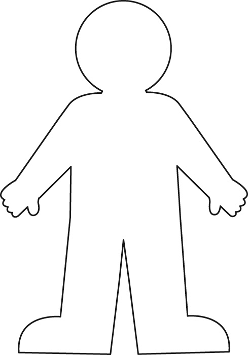 body template outline boy or girl