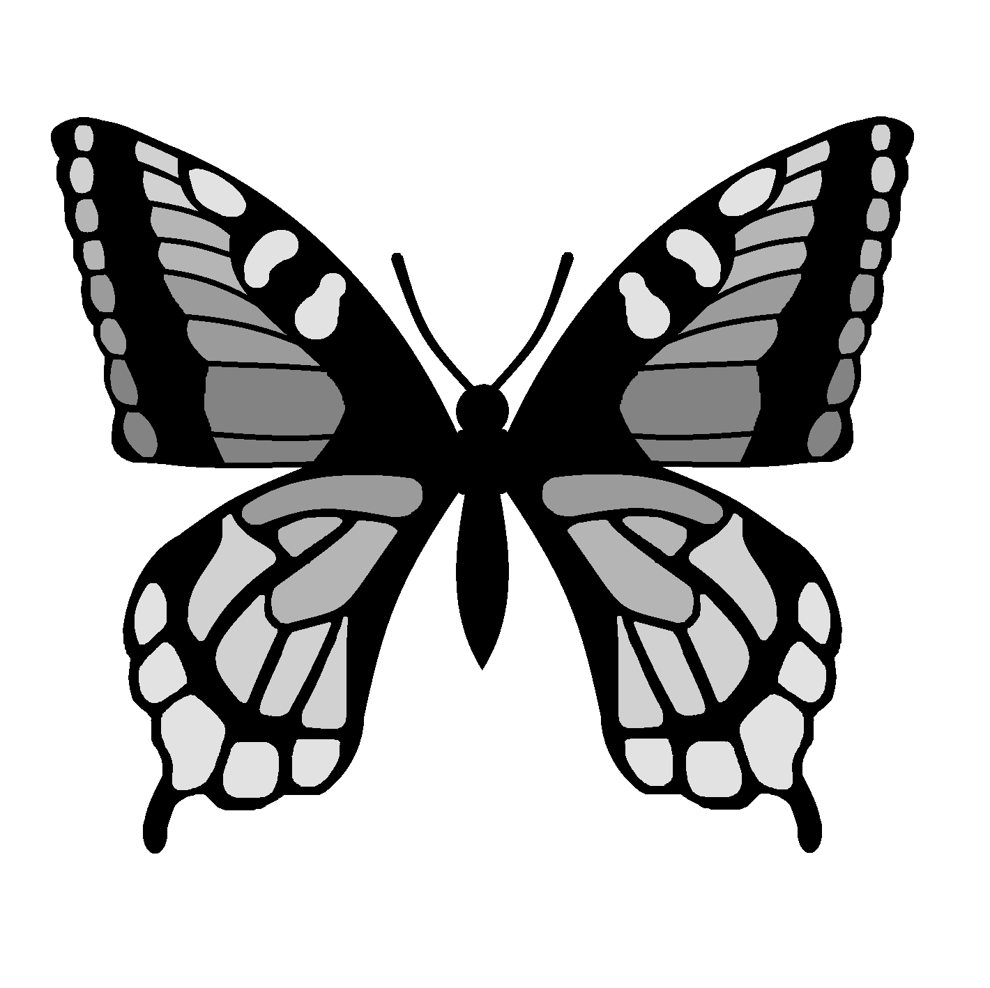 Template For Butterfly Wings - ClipArt Best