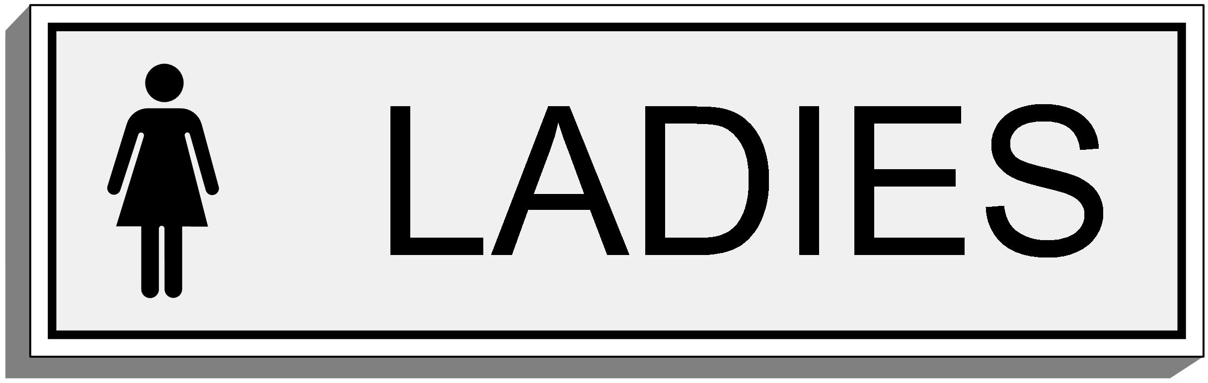 Ladies toilet clipart best for Ladies bathroom sign
